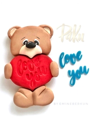 Paku Malzeme - Stamp kaşe LOVE YOU