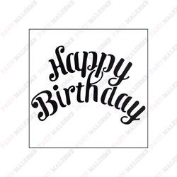 Paku Malzeme - Stencil Happy Birthday