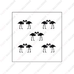 Paku Malzeme - Stencil Kissing Flamingos