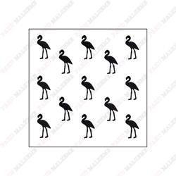 Paku Malzeme - Stencil Mini Flamingo