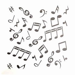 Paku Malzeme - Stencil Müzik Notalar