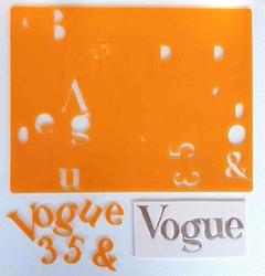 Paku Malzeme - Calligraphy Stamp Alfabe VOGUE