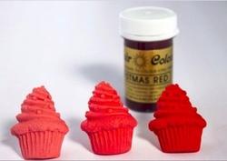 Sugarflair - Jel boya CHRISTMAS RED