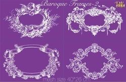 Mesh Stencil; Baroque Frames-2 - Thumbnail