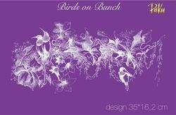 Paku Malzeme - Mesh Stencil; Birds on Bunch