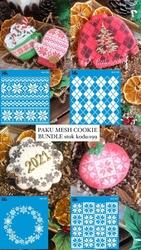 Paku Malzeme - Mesh Stencil Cookie Bundle-199