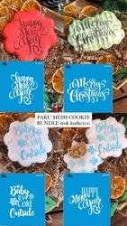 Paku Malzeme - Mesh Stencil Cookie Bundle-200