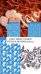 Paku Malzeme - Mesh Stencil Cookie Bundle-202