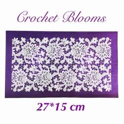 Paku Malzeme - Mesh Stencil; Crochet Blooms
