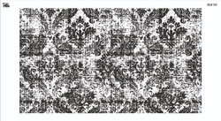 Paku Malzeme - Mesh Stencil Crystal Collection; Abstract Damask (33*19 cm)