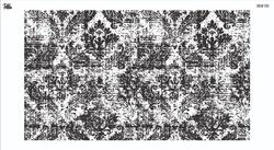 Paku Malzeme - Mesh Stencil Crystal Collection; Abstract Damask (33*19 cm)