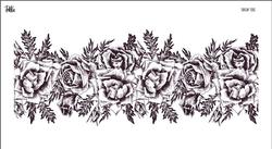 Paku Malzeme - Mesh Stencil Crystal Collection; Roses Garland (36*14 cm)