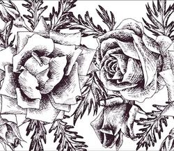 Paku Malzeme - Mesh Stencil Crystal Collection; Roses Garland (36*14 cm) (1)