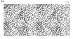 Paku Malzeme - Mesh Stencil Crystal Collection; Chrysanthemum (36*18 cm) (1)
