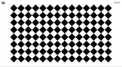 Paku Malzeme - Mesh Stencil Crystal Collection; Damier (33*19 cm)