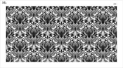 Paku Malzeme - Mesh Stencil Crystal Collection; Fancy Damask (36*18 cm)
