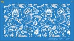 Paku Malzeme - Mesh Stencil Crystal Collection; Gingerbread Concept