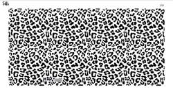 Paku Malzeme - Mesh Stencil Crystal Collection; Leopard (36*18 cm)