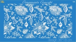 Paku Malzeme - Mesh Stencil Crystal Collection; Ornaments Concept