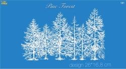 Paku Malzeme - Mesh Stencil Crystal Collection; Pine Forest
