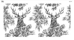 Paku Malzeme - Mesh Stencil Crystal Collection; Reindeer ( 36*18 cm)