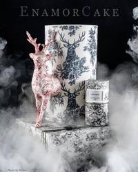 Paku Malzeme - Mesh Stencil Crystal Collection; Reindeer ( 36*18 cm) (1)