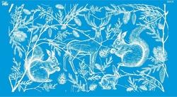 Paku Malzeme - Mesh Stencil Crystal Collection; Wintertale (36*18 cm)