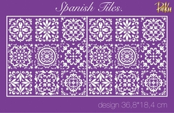 Paku Malzeme - Mesh Stencil; Spanish Tiles
