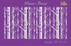 Paku Malzeme - Mesh Stencil; Winter Forest
