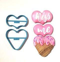 Paku Malzeme - Plastik kalıp Aşk Dondurması; 11,1*7,5 cm