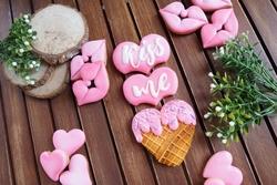 Paku Malzeme - Plastik kalıp Aşk Dondurması; 11,1*7,5 cm (1)