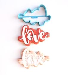 Paku Malzeme - Plastik kalıp Aşk Love Kaligrafi; 11*7 cm