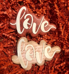 Paku Malzeme - Plastik kalıp Aşk Love Kaligrafi; 11*7 cm (1)