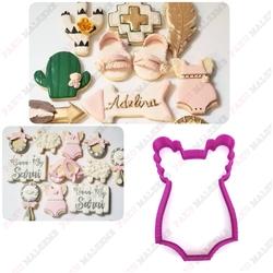 Paku Malzeme - Plastik Kalıp Babygirl Onesie Bebek Tulumu; 9*6,1 cm