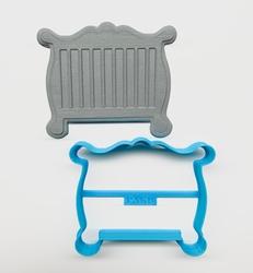 Paku Malzeme - Plastik kalıp BEBEK KARYOLA; 8,8*7,3 cm