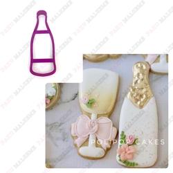 Paku Malzeme - Plastik kalıp Champagne Bottle Şişe; 12*4,5 cm