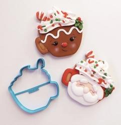 Paku Malzeme - Plastik kalıp CHRISTMAS MUG Kupa; 9,0*8,7 cm