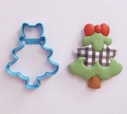 Paku Malzeme - Plastik kalıp CHRISTMAS TREE Yılbaşı Ağaç; 9,0*7,2 cm