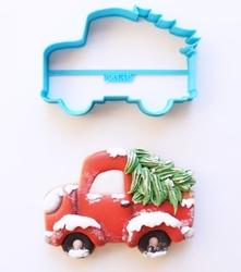 Paku Malzeme - Plastik kalıp CHRISTMAS TRUCK Yılbaşı Kamyonu;7,0*10,5 cm