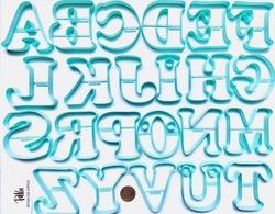 Paku Malzeme - Plastik kalıp CHUNKY ALFABE; 8 cm harf boyu