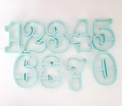 Paku Malzeme - Plastik kalıp CHUNKY NUMBERS; 9 cm