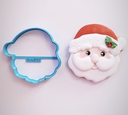 Paku Malzeme - Plastik kalıp CUTE SANTA-2 Şirin Noelbaba; 8,5*8,5 cm