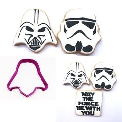 Paku Malzeme - Plastik Kalıp Darth Vader; 8*8 cm