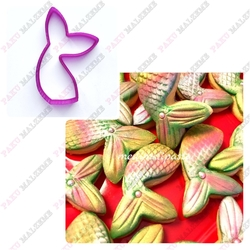 Paku Malzeme - Plastik Kalıp Denizkızı Kuyruk; 10,5*7,4 cm