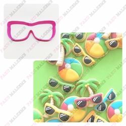 Paku Malzeme - Plastik Kalıp Güneş Gözlük; 9,5*3,8 cm
