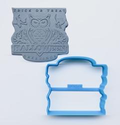 Paku Malzeme - Plastik kalıp HALLOWEEN GREETINGS-1; 7,85*7,4 cm