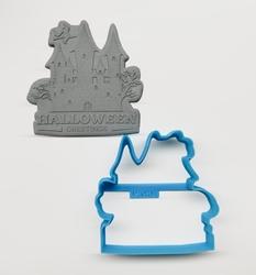 Paku Malzeme - Plastik kalıp HALLOWEEN GREETINGS-2; 7,8*7,8 cm