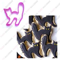 Paku Malzeme - Plastik Kalıp Halloween Kedi; 8*7 cm