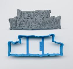 Paku Malzeme - Plastik kalıp HALLOWEEN LETTERING-1; 11,4*4,65 cm (1)