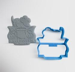 Paku Malzeme - Plastik kalıp HALLOWEEN PARTY; 7,5*7,25 cm
